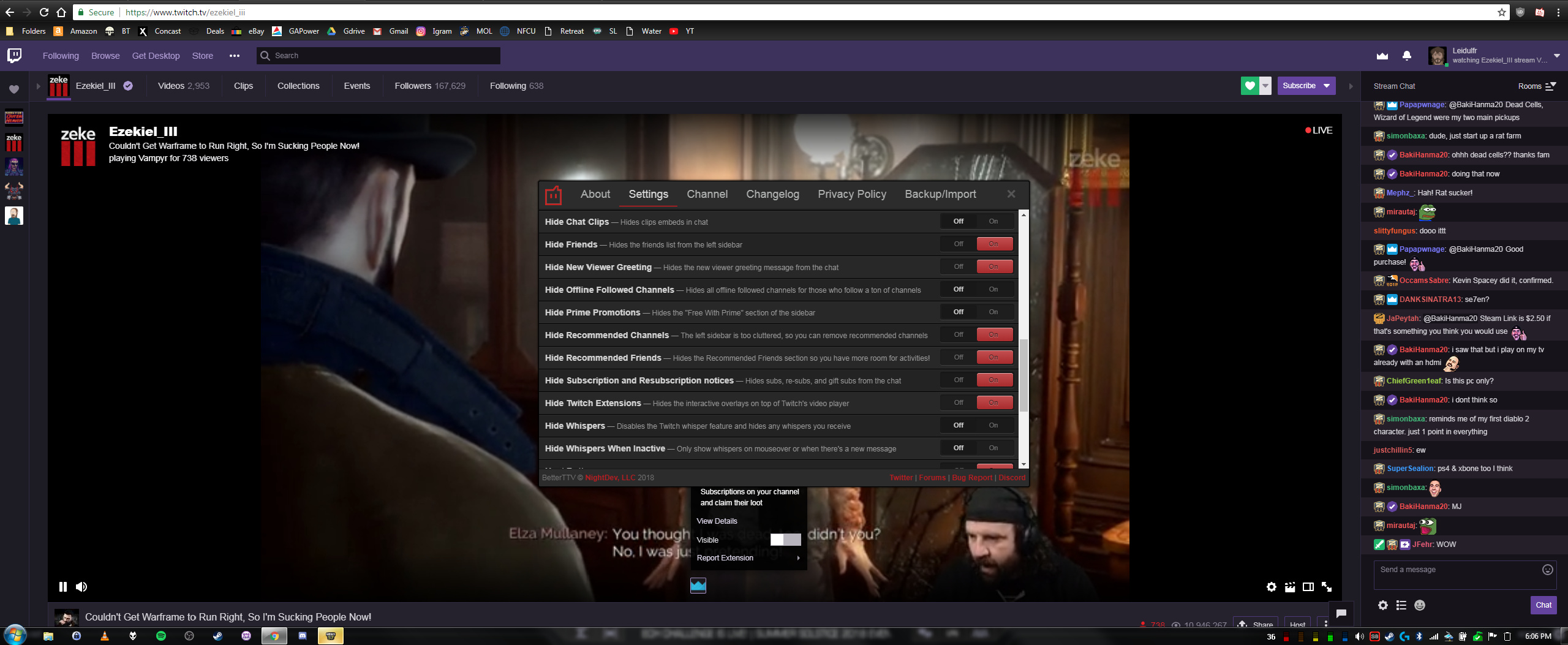 Hide Twitch Extensions